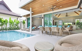 4 bedroom pool villa for rent in rawai